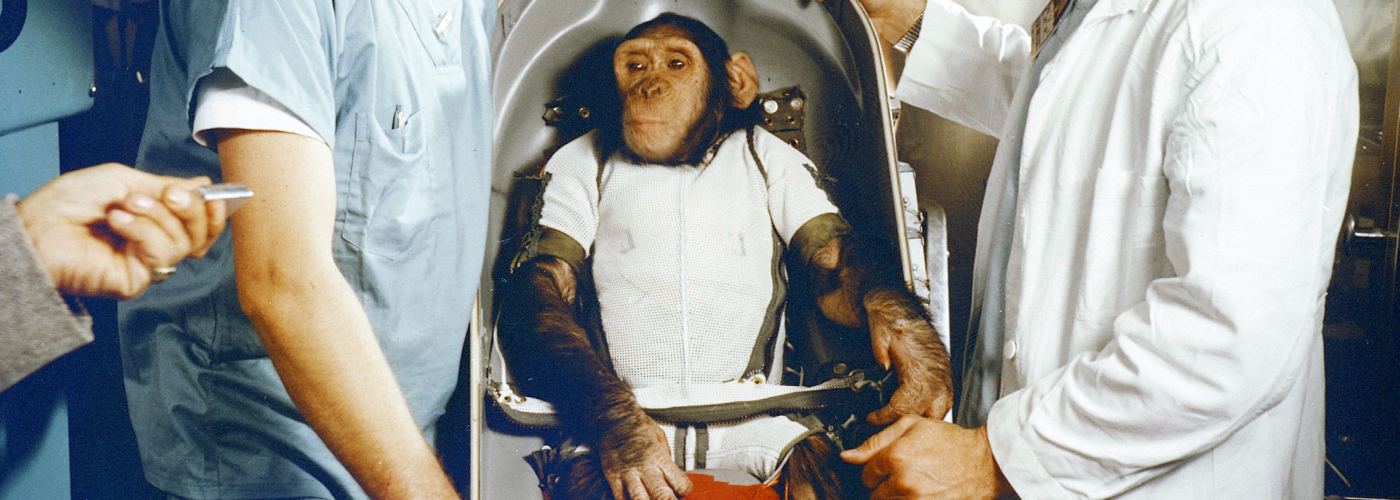 Q: Is this the first primate in space?